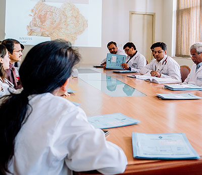 Mandatory Tumour Board evaluation by a team of oncologists and other allied specialists to ensure optimum and tailor made treatment plan for every patient to ensure best outcome.