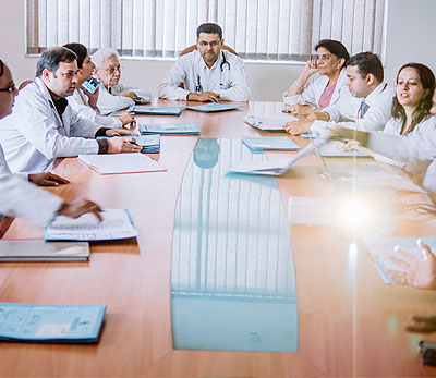 Mandatory Tumour Board evaluation by a team of oncologists and other allied specialists to ensure optimum and tailor made treatment plan for every patient to ensure best outcome. 2